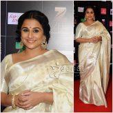 Vidya Balan in White Saree Begum Jaan Promotion