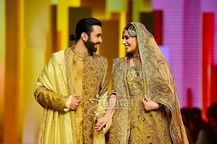 Mehwish Hayat and Azfar Rehman in Fahad Hussayn at #QHBCW17