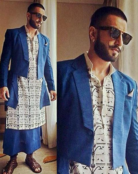 Ranveer-Singh-Blue-kurta