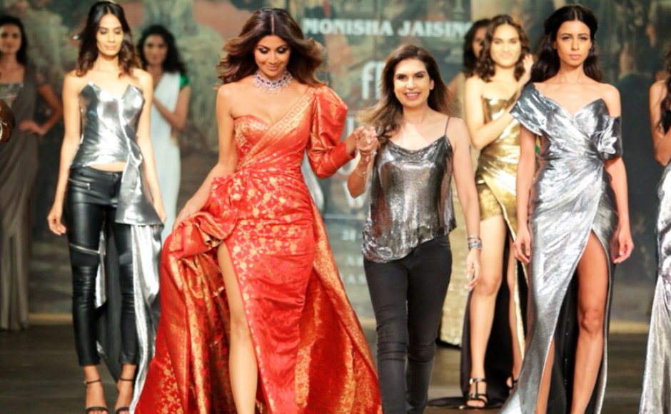 Shilpa Shetty in Bridal wear for Monica Jaising at ICW 2017