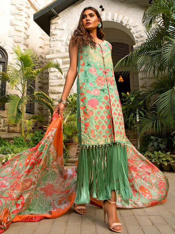 Rehaab Emerald Luxury Embellished Collection 2018 (1)