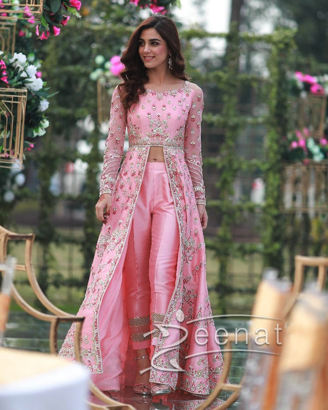 Maya Ali Stuns in Pink Dress by Faiza Saqlain