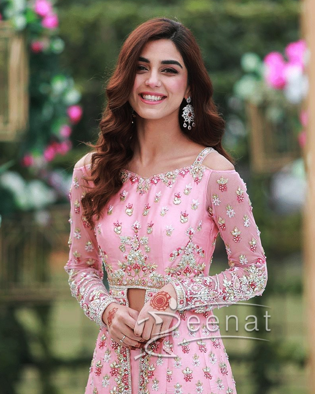 Maya Ali In Faiza Saqlain Pink Dress