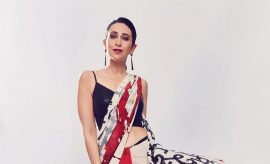Karisma Kapoor in Satya Paul Saree