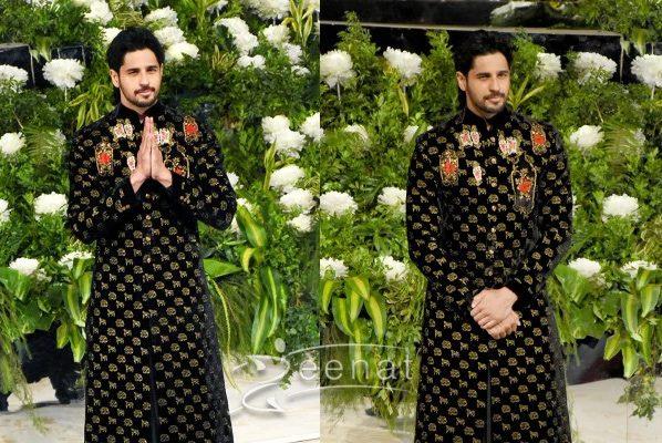 Siddharth Malhotra in Rohit Bal Black Sherwani Siddharth Malhotra in Rohit Bal Black Sherwani